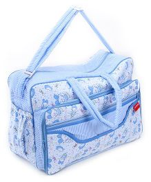 Sapphire Diaper Bag Blue Teddy Print - 20 x 42 x 28 Cm