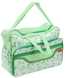 Sapphire Diaper Bag Green Teddy Print - 20 x 42 x 28 Cm