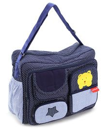 Sapphire Diaper Bag Polka Bear Patch - Navy Blue