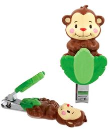 Sassy Soft Grip Nail Clipper - Monkey Shape
