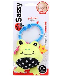 Sassy Jitter N Go Frog Clip On Toy