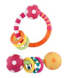 Sassy Ring And Polka Dot Rattle Combo