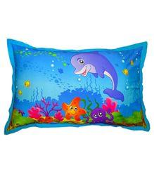 Swayam Aquarium Digital Print Aqua Kids Pillow Cover - 45 x 70 cm
