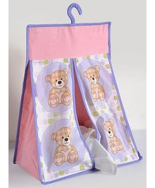 Swayam Digital Teddy Bear Print Diaper Stacker Standard Size - 20 X 18 X 8 Inches