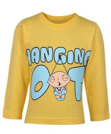 Game Yellow Full Sleeves Casual T Shirt - Hanging Baby Print