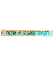 Party Anthem Its Baby Boy Foil Banner