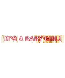 Party Anthem Its Baby Girl Foil Banner - Pink