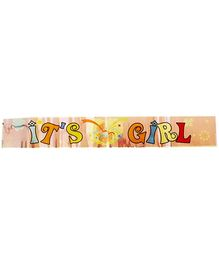 Party Anthem Its A Girl Foil Banner - Pink