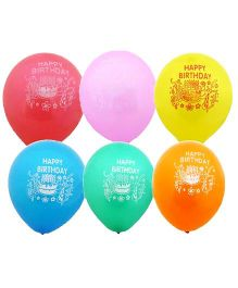 Party Anthem Happy Birthday Print Balloons - Pack Of 25