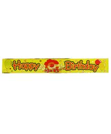 Party Anthem Happy Birthday Clown Foil Banner
