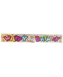 Party Anthem Happy Birthday Cake Foil Banner