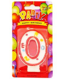 Party Anthem Zero Number Candle - 8 cm