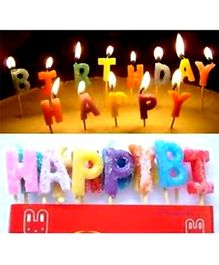 Party Anthem Happy Birthday Letters Candle