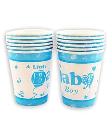 Party Anthem A Little Baby Boy Paper Cups Blue - Pack of 24