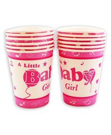 Party Anthem A Little Baby Girl Paper Cups - 266 ml