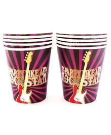 Party Anthem Rockstar Print Paper Cups - 266 ml