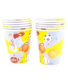 Party Anthem Sports Theme Paper Cups - 266 ml
