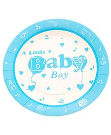 Party Anthem Little Baby Boy Print Paper Plates -  Pack of 24