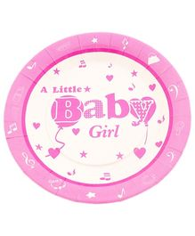 Party Anthem Little Baby Girl Print Paper Plates - 23 cm