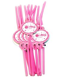 Party Anthem Pink Little Baby Girl Straw - Pack of 24