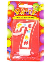 Party Anthem White Number Candle - Number 7