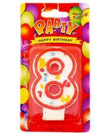 Party Anthem White Number Candle - Number 8