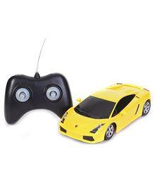 Dickie Lamborghini Gallardo Yellow Remote Control Car - 18 x 7.5 x 4.5 cm