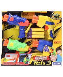 Buzz Bee Toys Tek 3 Air Blaster Pack Of 4 - 5 Years Plus