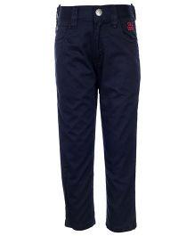 Gini & Jony Full Length Trouser With Belt - Navy Blue