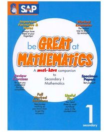 Singapore Asian Publication Be Great At Mathematics For Secondary 1 - English