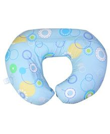 Chicco Boppy Pillow With Cotton Slip Cover - Blue