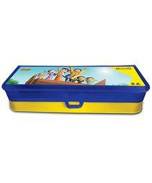 Chhota Bheem Plastic Blue Pencil Box With Multiple Decker -