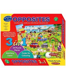 Sterling 3 In 1 Opposites Puzzles
