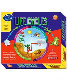 Sterling Life Cycles - 6 Four Piece Educational Picture Puzzles