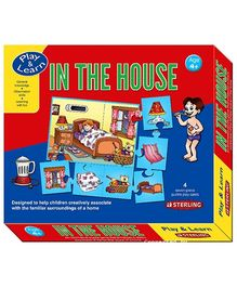 Sterling In The House - 4 Seven Piece Puzzle Play Cards