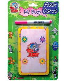 Sterling Tom And Jerry My Body 21 Flashcards And White Board Marker