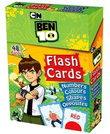 Ben 10 Flash Cards Number Colour Shapes Opposites
