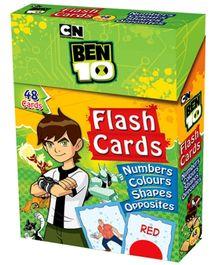 Ben 10 Flash Cards Number Colour Shapes Opposites