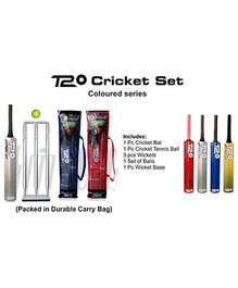 Speed Up T20 Coloured Series Wooden Cricket Set (Color May Vary)