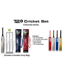 Speed Up T20 Coloured Series Wooden Cricket Set