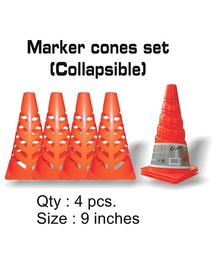 Speed Up Collapsible Marker Cones - Set of 4 Pieces