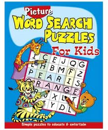 Shree Book Centre Picture Word Search Puzzles for Kids - Blue
