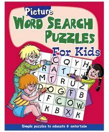 Shree Book Centre Picture Word Search Puzzles for Kids - Red