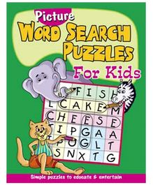 Shree Book Centre Picture Word Search Puzzles for Kids - Green