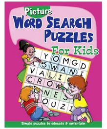 Shree Book Centre Picture Word Search Puzzles for Kids - Pink
