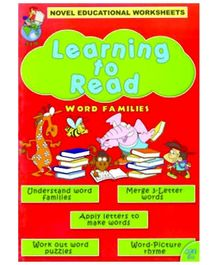 Shree Book Centre Novel Educational Worksheets Learning To Read Word Families - English