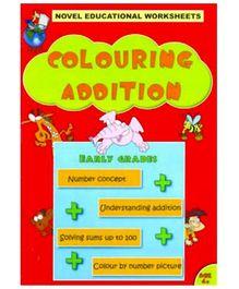 Shree Book Centre Novel Educational Worksheets Colouring Addition - English