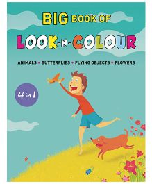 shree book centre 4 in 1 big book of look n colour english - Drawing Books For Kids