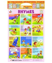 Shree Book Centre My Preschool Educational Charts Yellow Set 10 In 1 - English