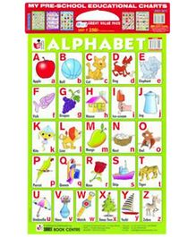 Shree Book Centre My Preschool Educational Charts Red Set 10 In 1 - English